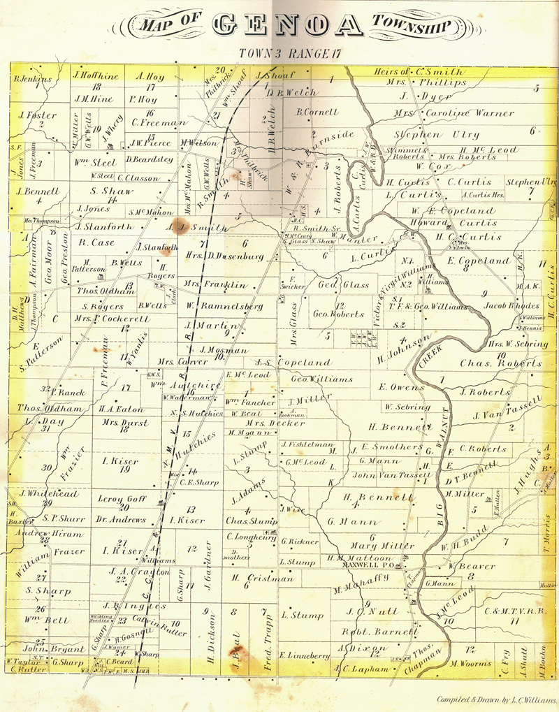 Genoa Ohio Map.Return To Local History Index